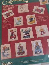 BUCILLA Alma Lynne Counted Cross Stitch Kit Christmas Ornaments Heavenly Angels