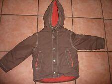 Mini Boden Alter 3-4 Jahre braun Fleece Gefütterter Anorak/Jacke mit Kapuze sehr guter Zustand