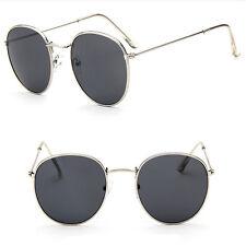 New Fashion Men Women's Round Sunglasses  Vintage Retro Oversized Mirror Glasses