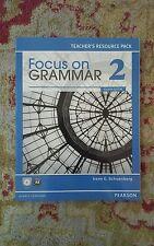 FOCUS on GRAMMAR 2 * TEACHER'S RESOURCE PACK w/ CD * Irene E. Schoenberg * NEW!