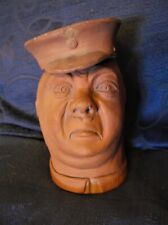 RARE SIGNED 1917 TERRACOTTA WW 1 DOUBLE FACED BRITISH SOLDIER JAR HAPPY SAD