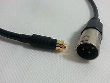 3.5mm Locking female socket cable - XLR male wireless radio lead sony Sennheiser