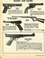 1976 Print Ad of Daisy Model 177 200 62 Pistol 179 Revolver 300 Rifle BB Gun