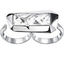 Atelier Swarovski Double Ring Jean Paul Gaultier size 58/ Large / P/ Q RRP £125