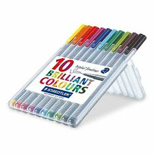 Staedtler Triplus Fineliner 334 Superfine Point Pens, 0.3 mm Brilliant Colours