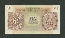 More details for british military authority  6d  wwii  krause m1  uncirculated  banknotes