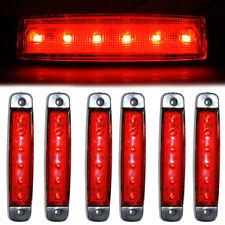 6 Pcs Side Rear Front Marker Lights 6 LED Lamps For Mercedes Actros Atego 24V