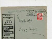 Germany 1937 Dresden Cancel Luftpost Plane Slogan Stamps Cover ref R 19327
