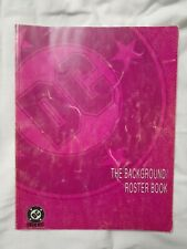 DC Heroes RPG Role Playing - Background / Roster Book DC comics Batman Superman