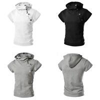Men Hoodie Hooded Short Sweatshirt Sleeve SweaterTops Jackets Outwear Coats Pro