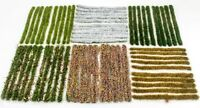 4mm Static Grass Tuft Strips Selection by WWS - Model Railway Diorama Scenery