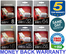 SAMSUNG EVO Plus 16 32 64 128GB MicroSD Class 10 Flash Memory Card w/ SD Adapter