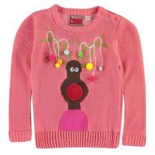 Abbigliamento rose acrilici con girocollo per bambine dai 2 ai 16 anni