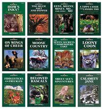 NEW Sam Campbell Set of 12 Living Forest Series Volume Moose Country Loony Coon