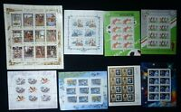 8 Souvenir Sheet USSR SOVIET RUSSIA Postage 68 STAMPS Collection MINT NH