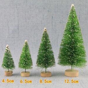 5PCS/set Christmas Tree New Year Mini Little Pine Tree Christmas Desk Decora uk