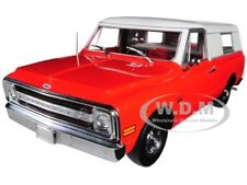 1970 CHEVROLET C-10 PICKUP WITH CAMPER SHELL RED 1/18 BY HIGHWAY 61 18004