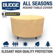 Patio Round Table Cover Outdoor Garden Furniture Dust Rain Uv Protection Tan