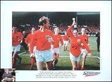 England Autographed Football Prints