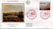 FRANCE FDC - 2733 1 CROIX ROUGE - TOULON 30 Novembre 1991 - LUXE sur soie