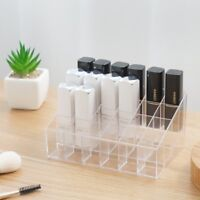 24 Clear Acrylic Lipstick Holder Display Stand Cosmetic Organizer Makeup Case
