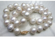 20 inches Real Pearl 10-11mm South Sea White Baroque Pearl Necklaces JN1993