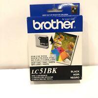 New Genuine Brother LC51Bk Black Ink Cartridge Brother Carton Sealed Bag 06/2008