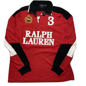 EUC Ralph Lauren Snow Polo Challenge Cup #3 Rugby Shirt Long Sleeve Men's XL