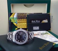 ROLEX - 39mm Platinum PEARLMASTER Masterpiece MOP Diamond 18946 - SANT BLANC