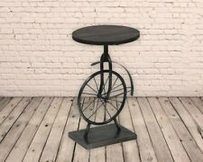 Unusual Vintage / Rustic Style Industrial Iron Unicycle Table/Console/Coffee
