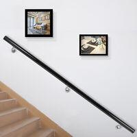 Aluminum Modern Handrail for Stairs 5ft Length Black FACTORY DIRECT STREET PRICE