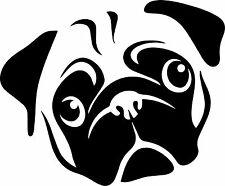 Pug Perro Cara Nevera Pegatina Calcomanía de Vinilo Adhesivo! brillo arte de Pared de 185 X 152mm