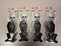 Lot of 4 Halloween Skeleton Metal Cookie Cutters Sets Wilton New Baking Party