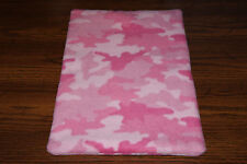 New Pink Camo #1 Fleece Dog Cat Pet Carrier Crate Blanket Bed Pad Free S/H! Bcr