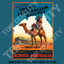 TRANS AUSTRALIA RAIL Decal Sticker for Mancave Hot Rod Retro Vintage Stickers