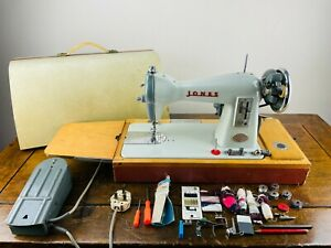 Jones Brother CBD Electric Sewing Machine Foot Pedal Tools & Case Heavy Duty