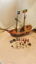 PLAYMOBIL LARGE PIRATE SHIP SET #51352011 not complete