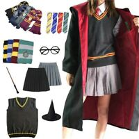 Harry Potter Robe Cloak Hermione Skirt Tie Sweater Shirt Scarf Cosplay Costume