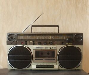 BOOMBOX SHARP GF-6565H Vintage 1982y Rare Fully Working