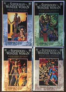Superman Wonder Woman Whom Gods Destroy #1 2 3 4 Complete set NM Chris Claremont