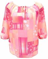 Womens Light Kaftan Tunic Top  Pink Plus Size 16,18,20,22,24,26 Ladies