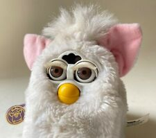VINTAGE FURBY ORIGINAL WHITE PINK EARS 1999 TIGER ELECTRONICS FURBIES OLD TOY