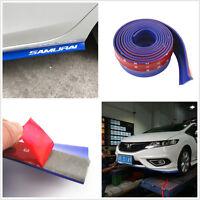 1x Blue Rubber Car Front Bumper Splitter Spoiler Lip valance Skirt Protector kit