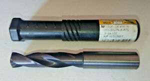 GUHRING 14.5mm SOLID CARBIDE THRU COOLANT RATIO DRILL FIREX COATED 5510