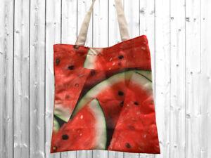 Designer Canvas Tote Bag Printed Watermelon FREE POSTAGE