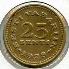 1928 Estonia Coin 25 Senti - Eesti Vabariik BH200