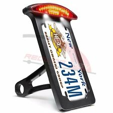 Side Mount License Plate Bracket Holder Frame Tail Light Custom Harley Sportster