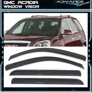Fits 07-17 GMC Acadia 07-10 Saturn Outlook Acrylic Window Visors 4Pc