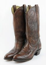 DAN POST Womens 9 - DARK BROWN LEATHER EMBROIDERED WESTERN COWBOY COWGIRL BOOTS