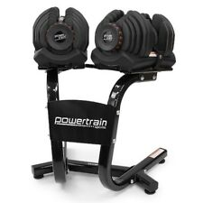 Powertrain Adjustable Dumbbell Set with Stand - 80kg